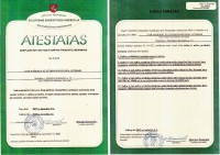 Certificate to operate at oil and oil products' plant