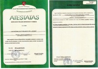 Certificate to operate at thermal units and turbines